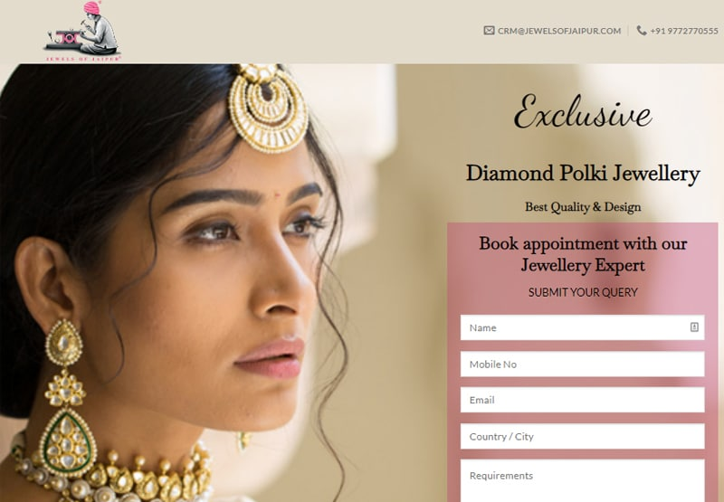 Jewels of Jaipur website screenshot